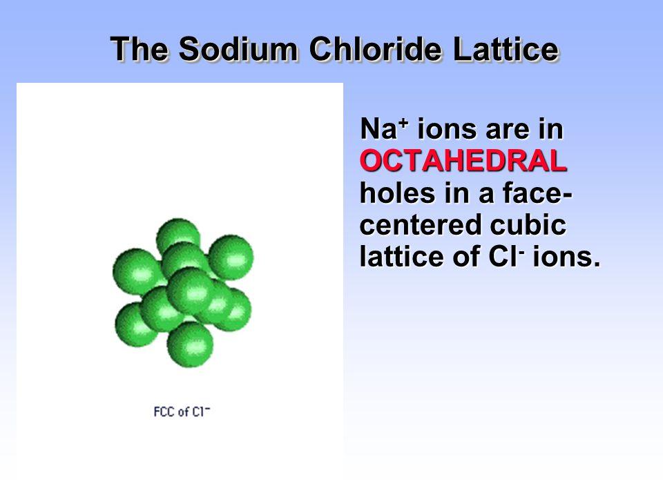 The Sodium Chloride Lattice