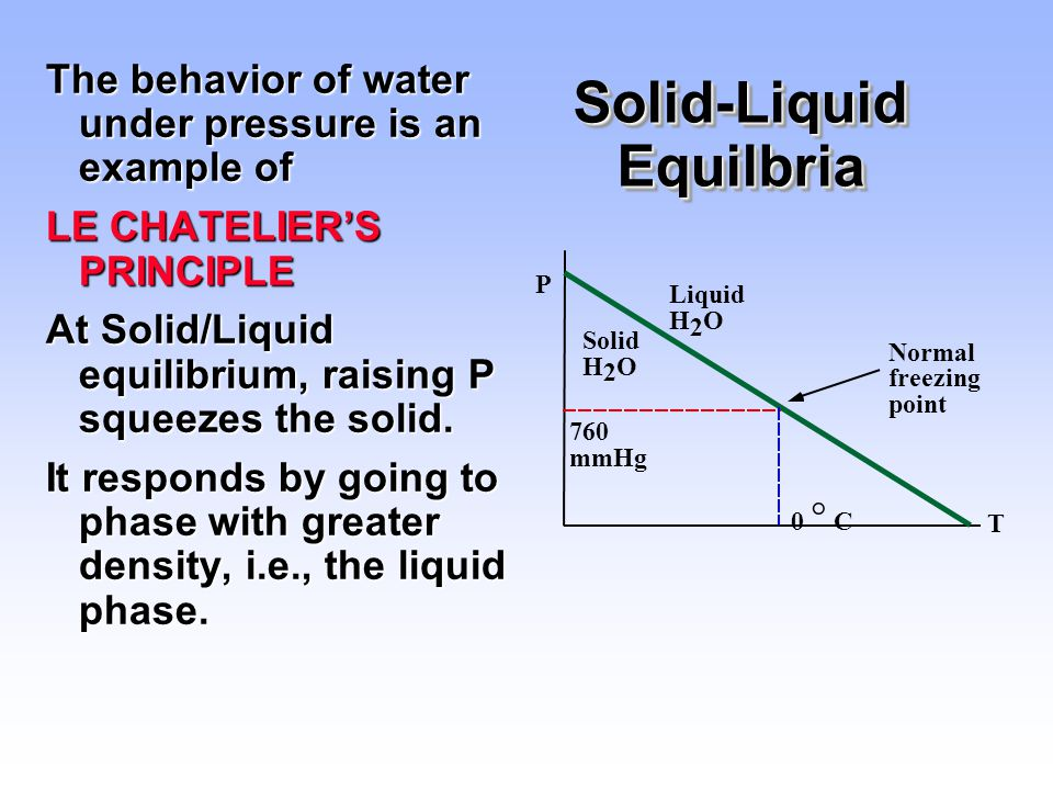 Solid-Liquid Equilbria