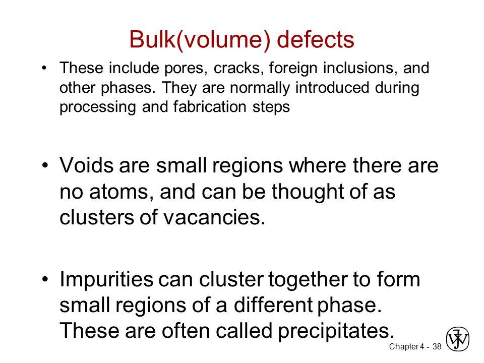 Bulk(volume) defects