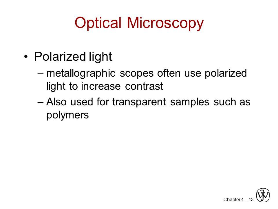 Optical Microscopy Polarized light