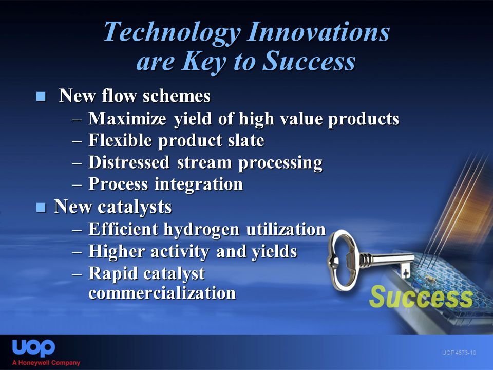 Technology Innovations are Key to Success