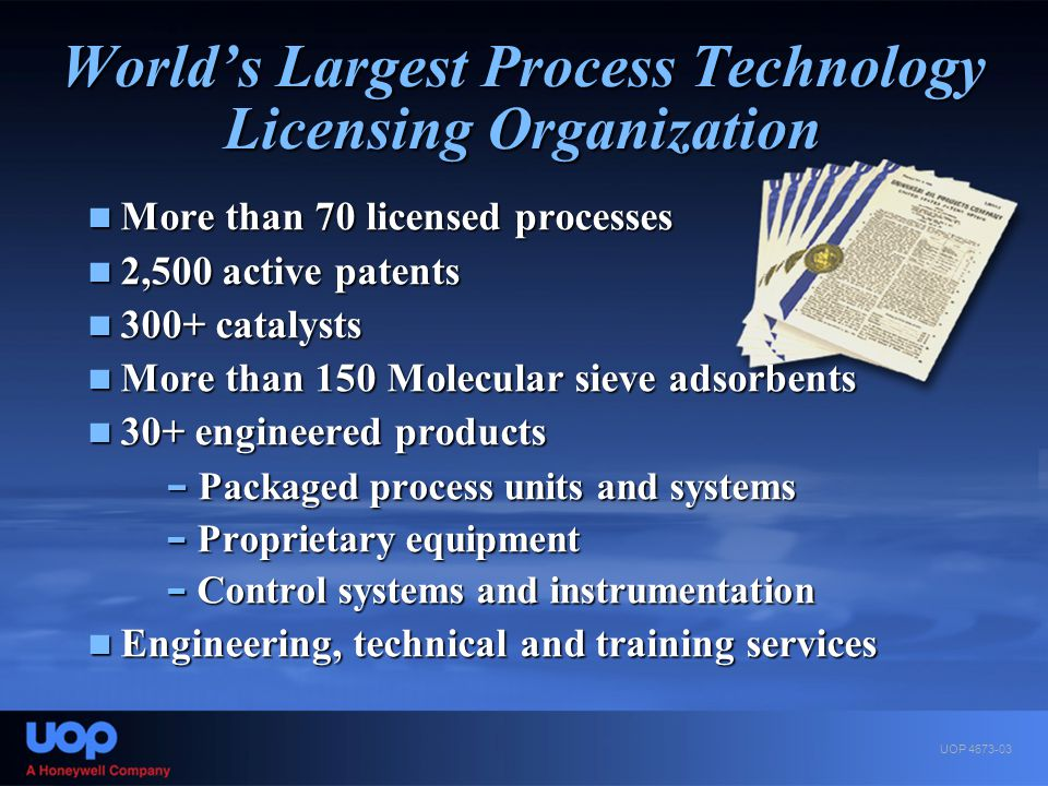 World's Largest Process Technology Licensing Organization