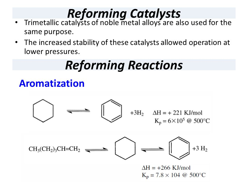 Reforming Catalysts Reforming Reactions