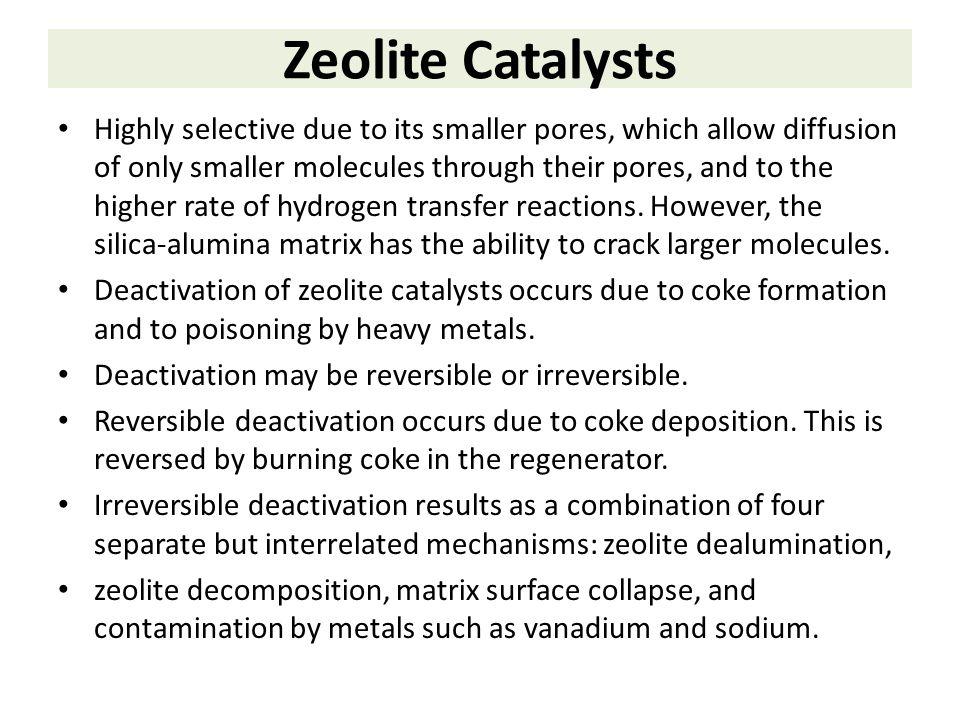 Zeolite Catalysts