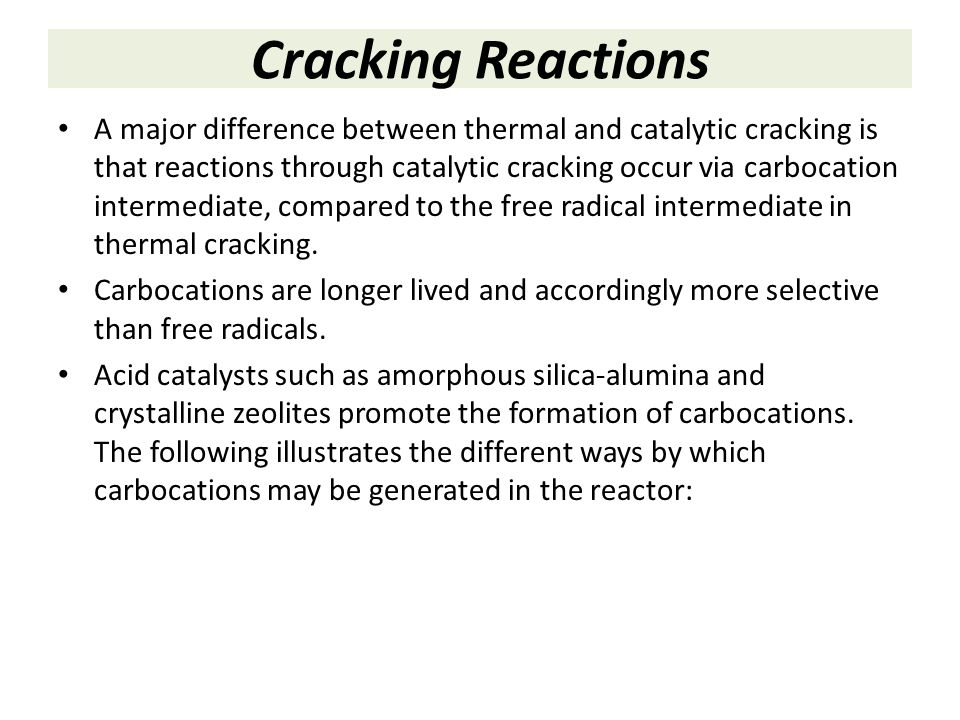 Cracking Reactions