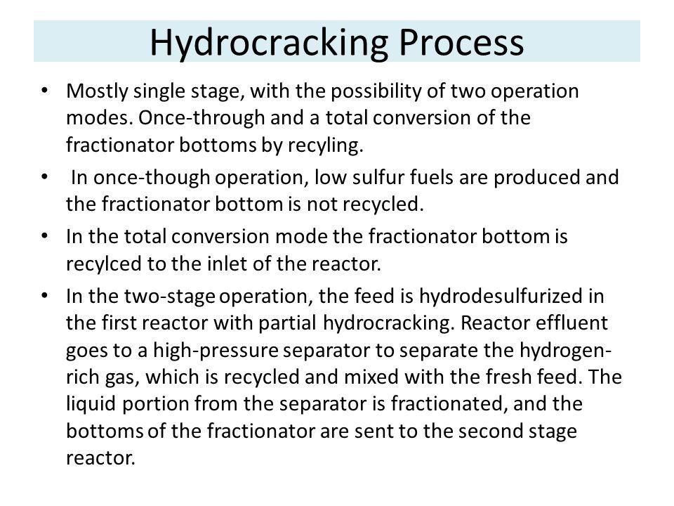 Hydrocracking Process