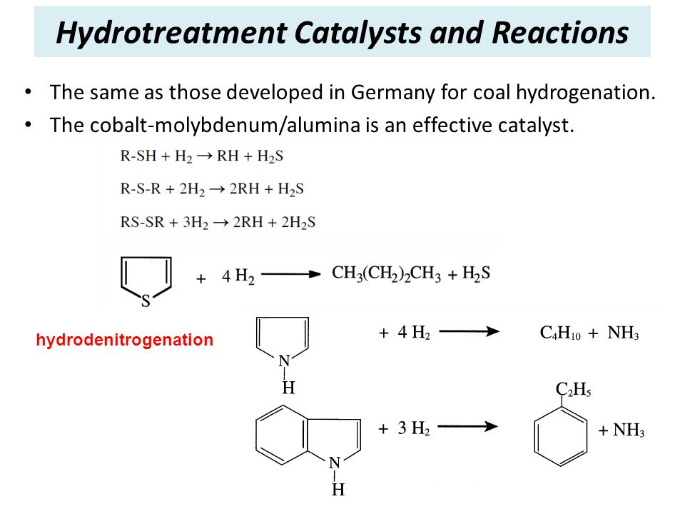Hydrotreatment Catalysts and Reactions