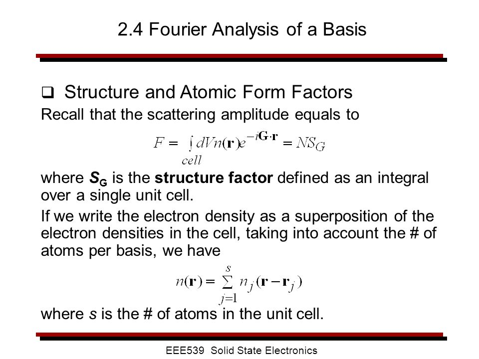 2.4 Fourier Analysis of a Basis