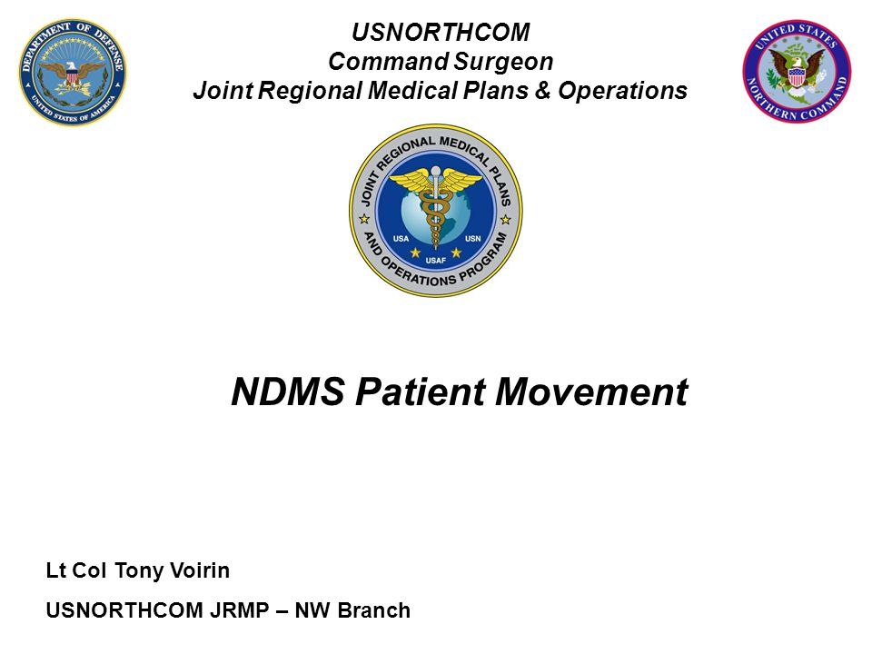 Joint Regional Medical Plans & Operations
