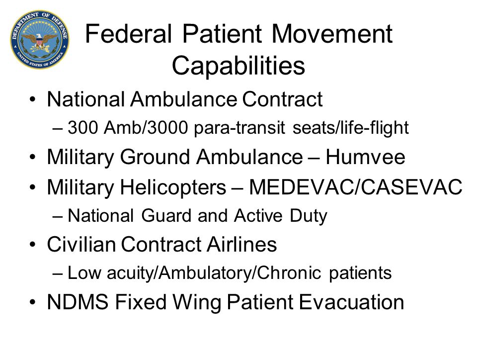 Federal Patient Movement Capabilities
