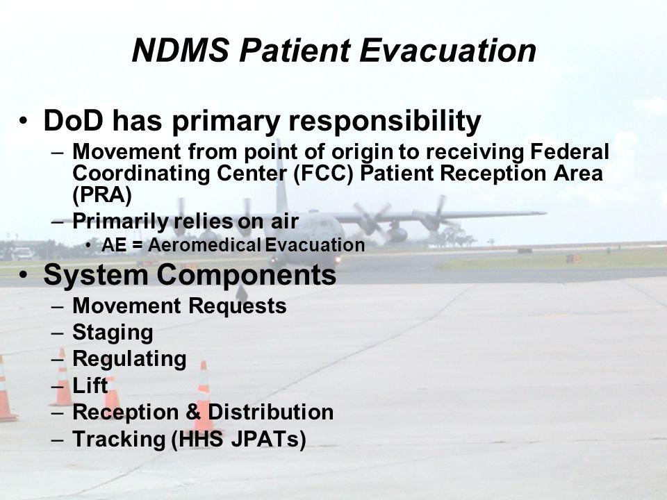 NDMS Patient Evacuation