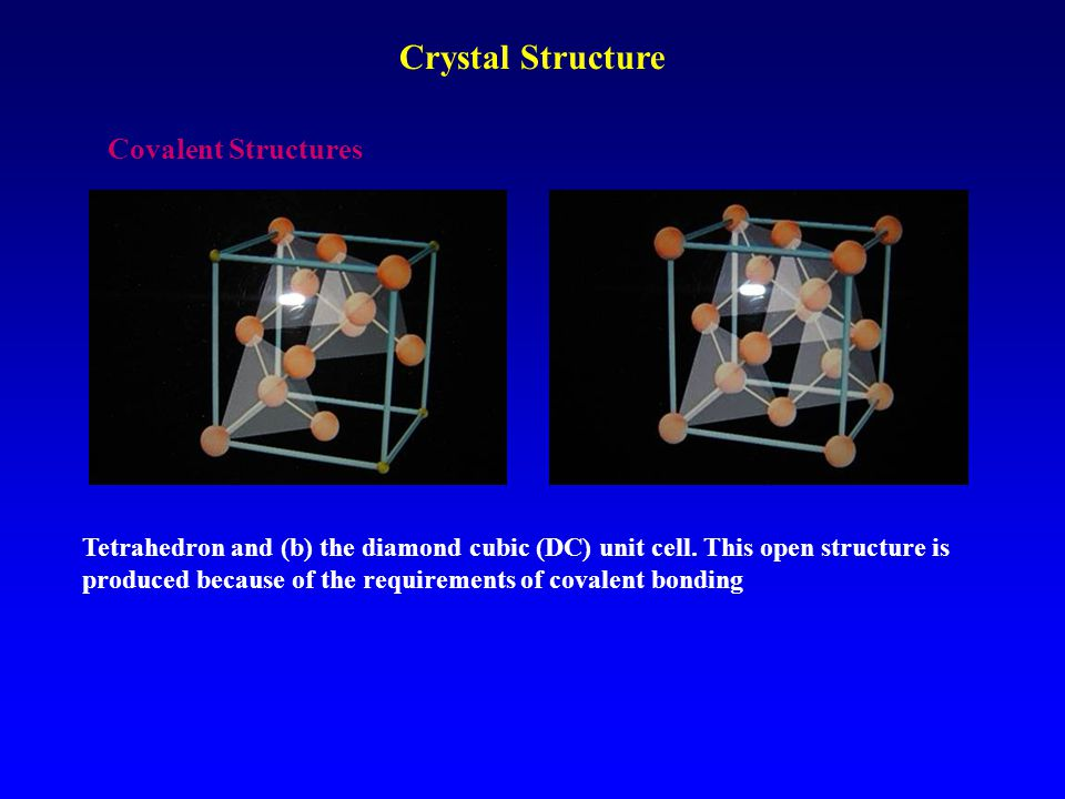 Crystal Structure Covalent Structures