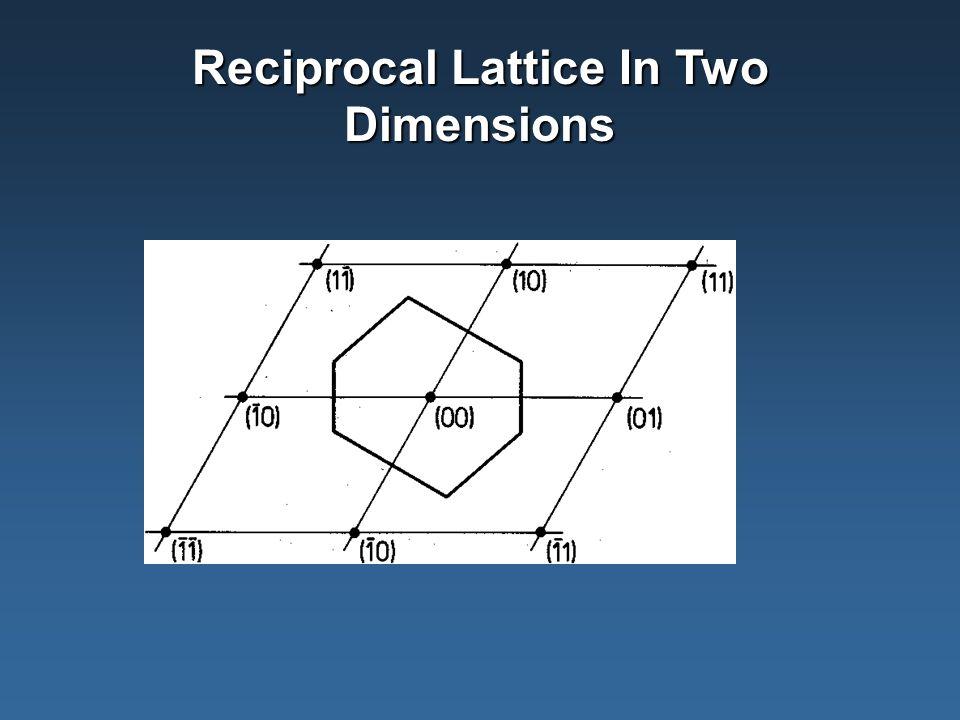 Reciprocal Lattice In Two Dimensions