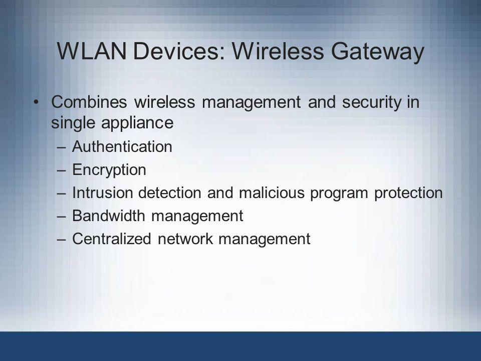 WLAN Devices: Wireless Gateway