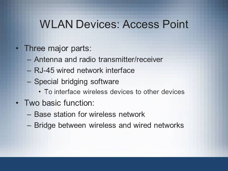 WLAN Devices: Access Point