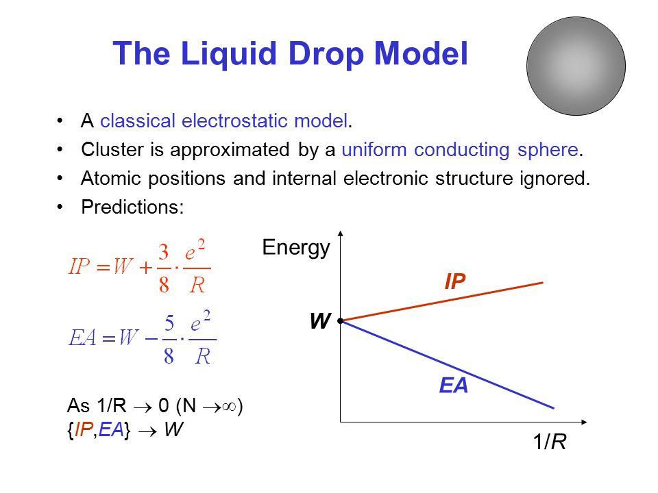 The Liquid Drop Model Energy IP W EA 1/R