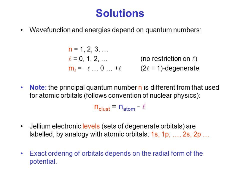 Solutions nclust = natom - 