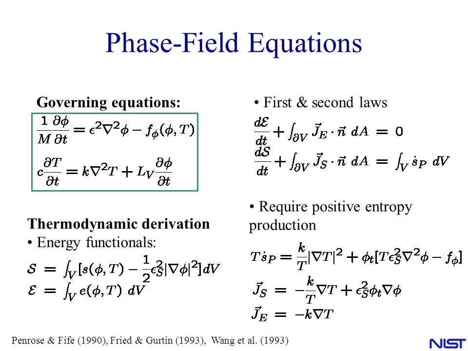 Phase-Field Equations