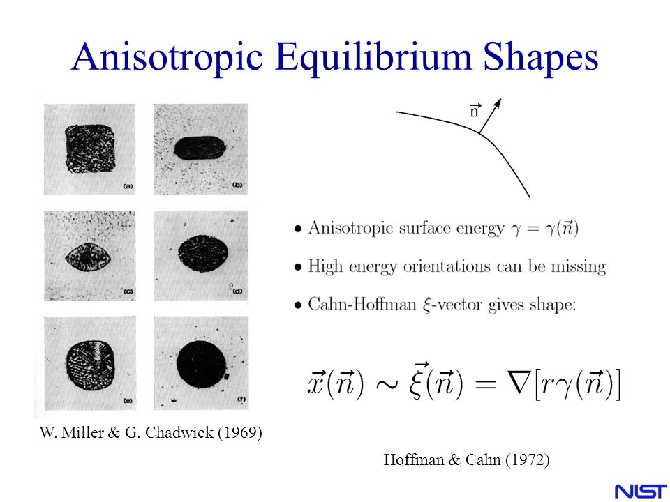 Anisotropic Equilibrium Shapes