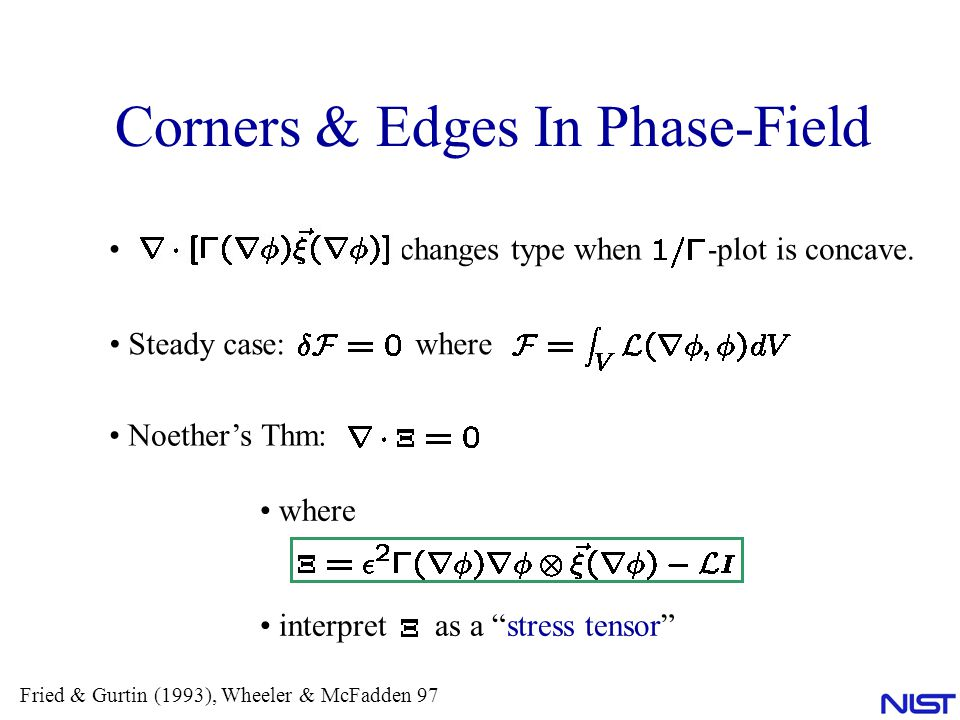 Corners & Edges In Phase-Field