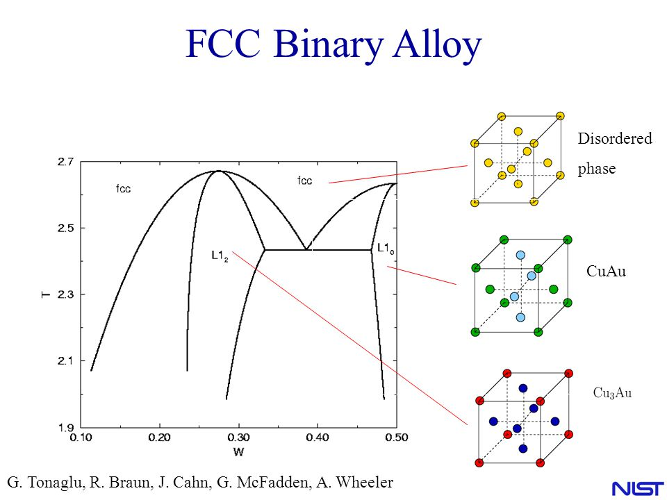 FCC Binary Alloy Disordered phase CuAu