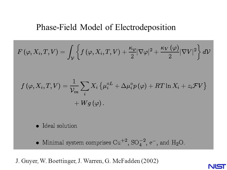Phase-Field Model of Electrodeposition