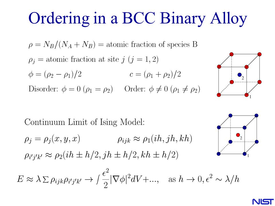 Ordering in a BCC Binary Alloy