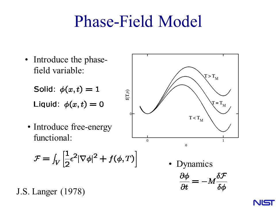 Phase-Field Model Introduce the phase-field variable: