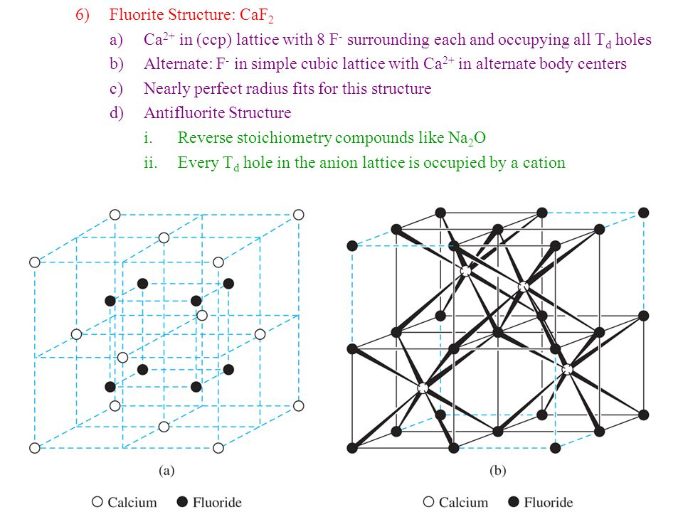 Fluorite Structure: CaF2