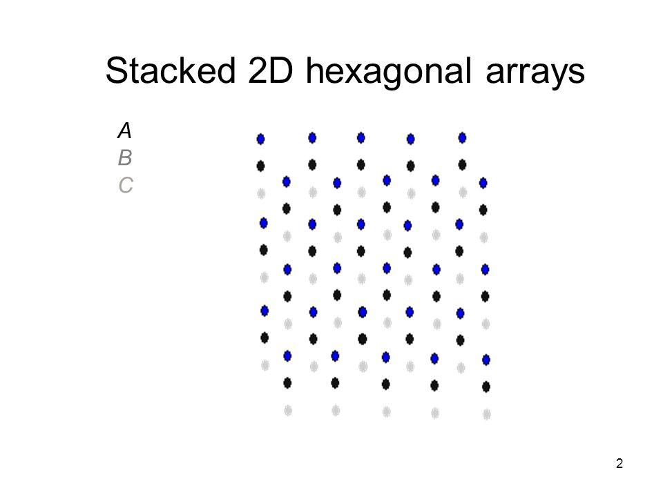 Stacked 2D hexagonal arrays