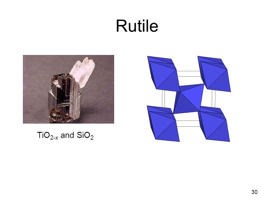 Rutile TiO2-x and SiO2