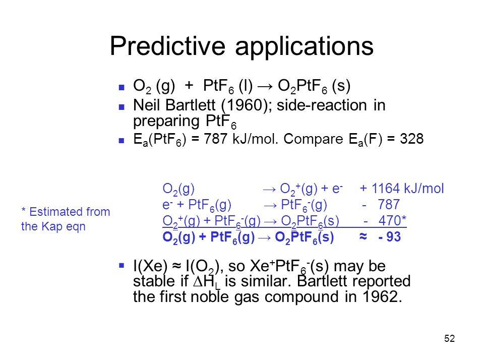 Predictive applications