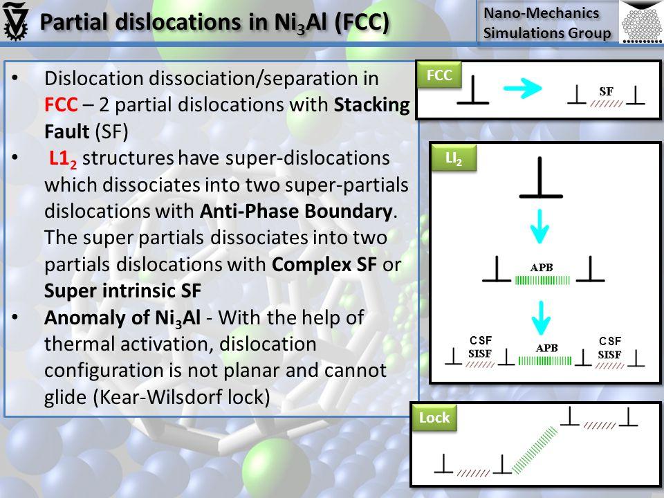 Partial dislocations in Ni3Al (FCC)