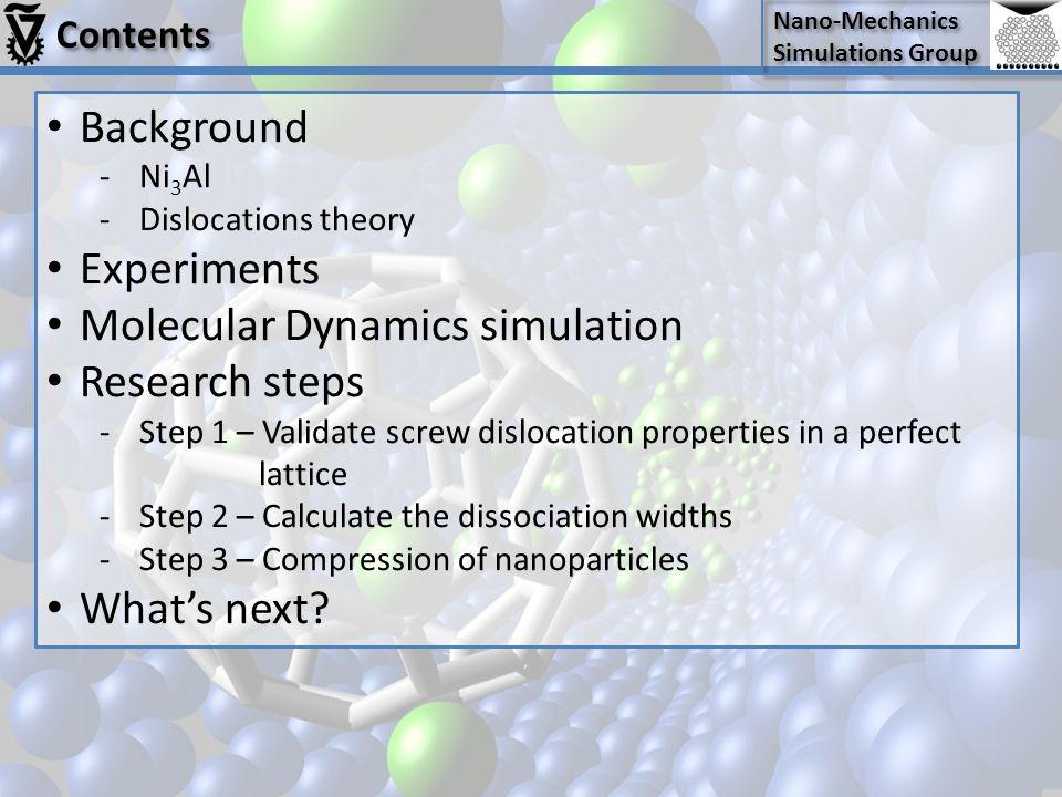Molecular Dynamics simulation Research steps