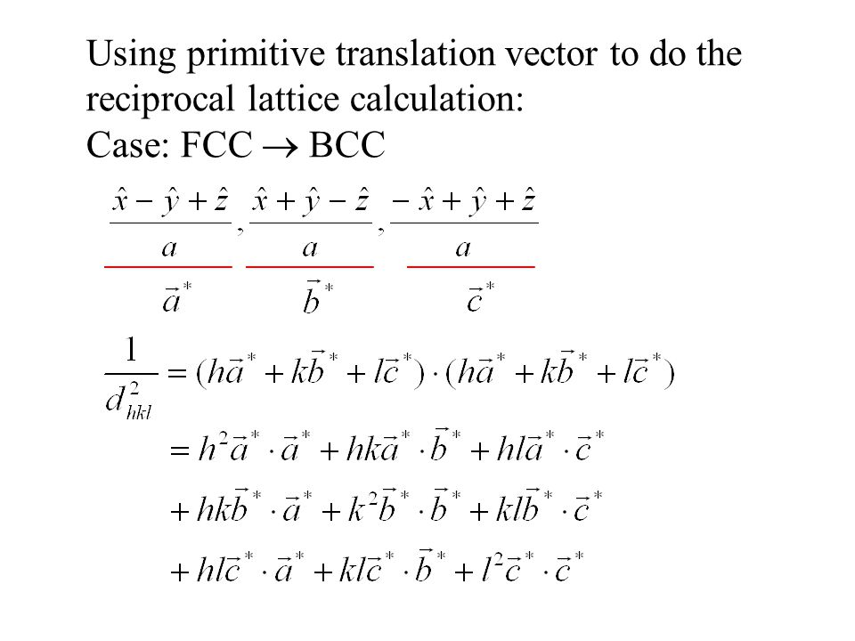 Using primitive translation vector to do the