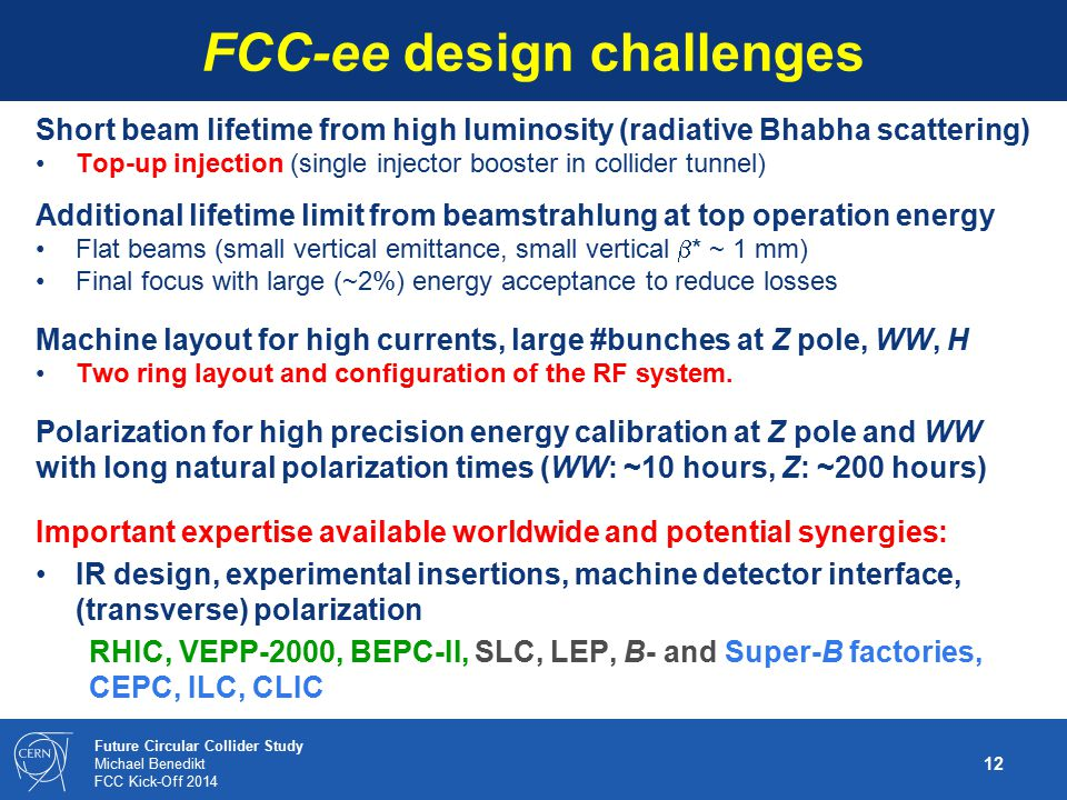 FCC-ee design challenges