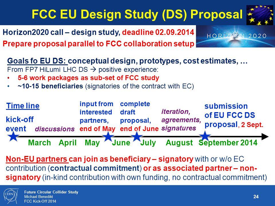 FCC EU Design Study (DS) Proposal