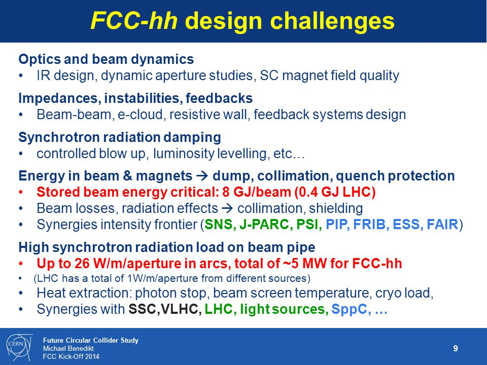 FCC-hh design challenges