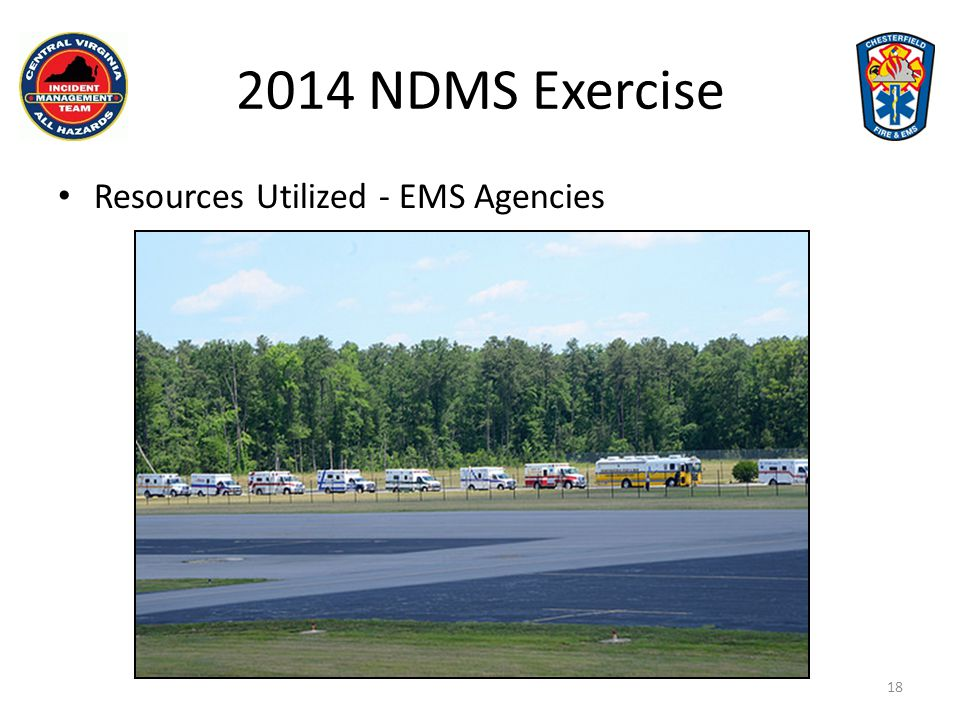 2014 NDMS Exercise Resources Utilized - EMS Agencies