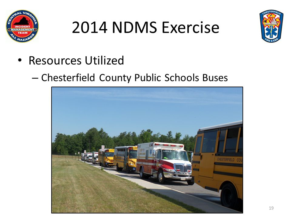 2014 NDMS Exercise Resources Utilized
