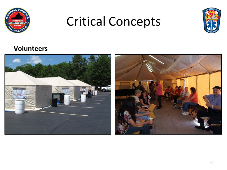 Critical Concepts Volunteers