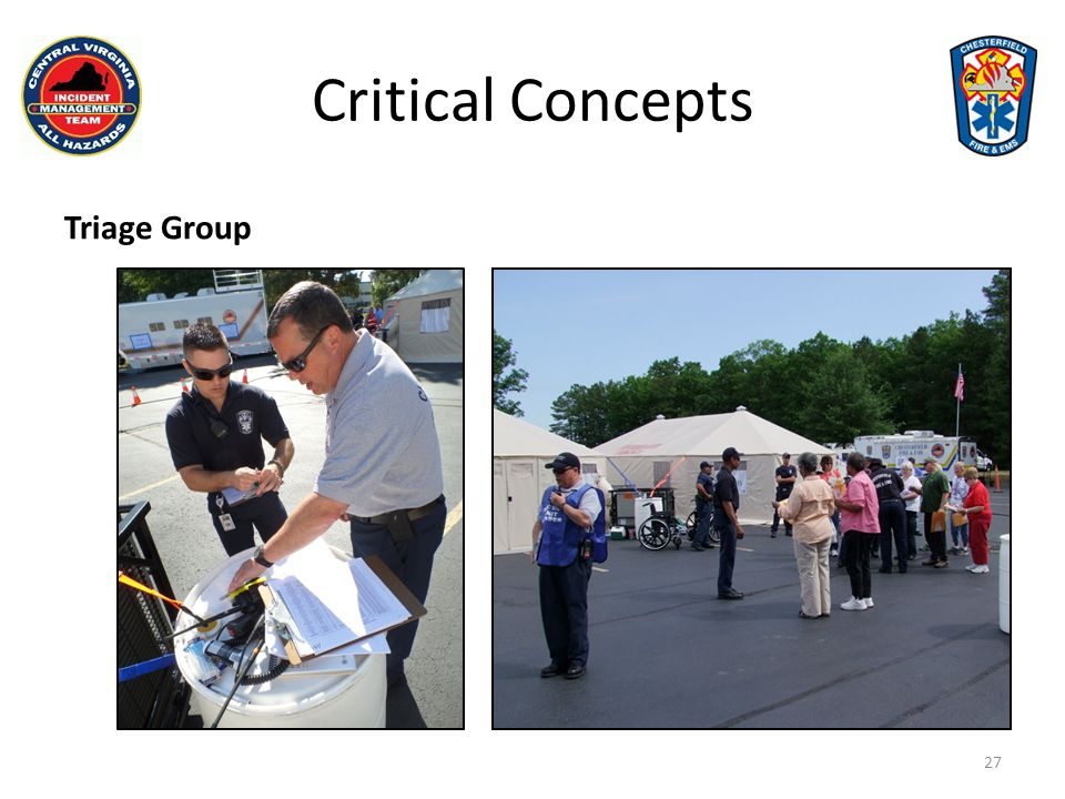 Critical Concepts Triage Group