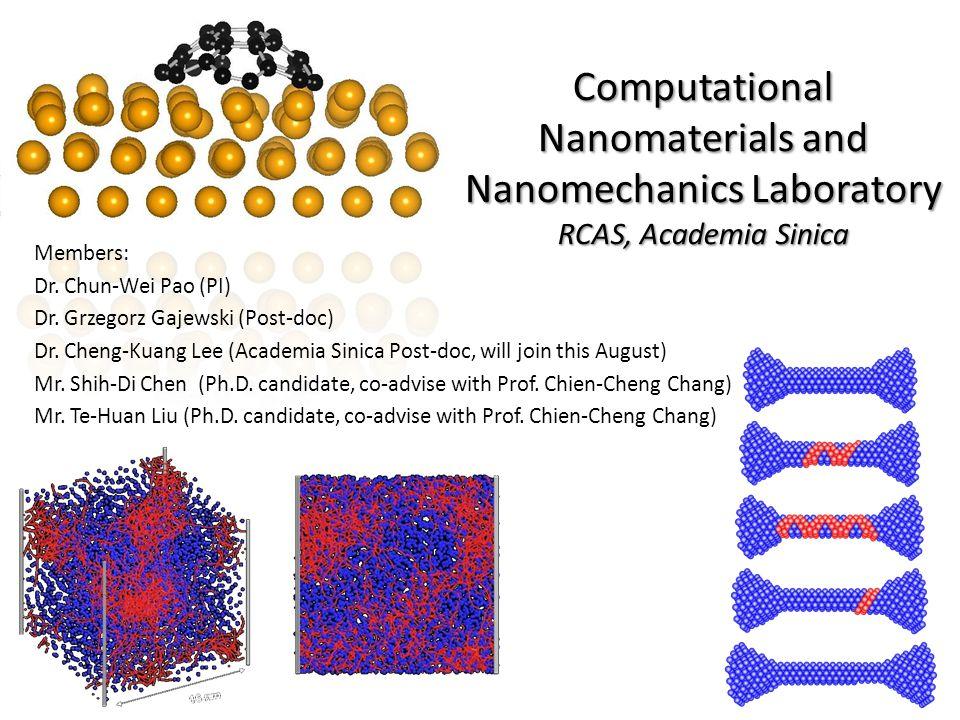 Computational Nanomaterials and Nanomechanics Laboratory RCAS, Academia Sinica