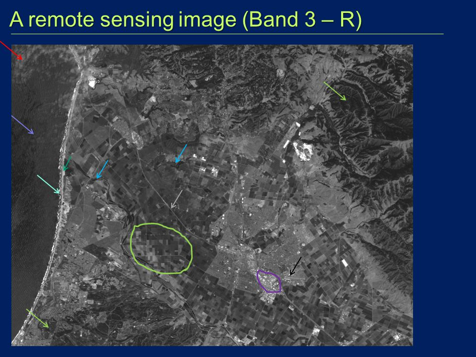 A remote sensing image (Band 3 – R)
