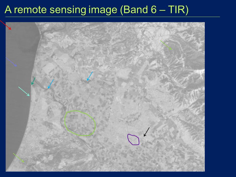 A remote sensing image (Band 6 – TIR)