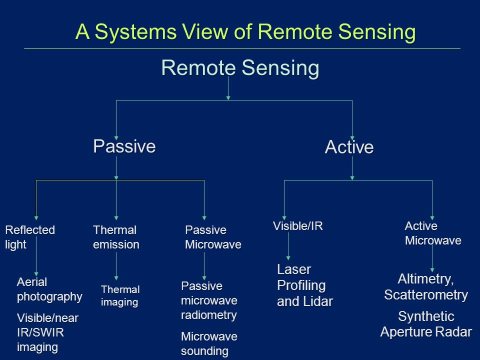 A Systems View of Remote Sensing