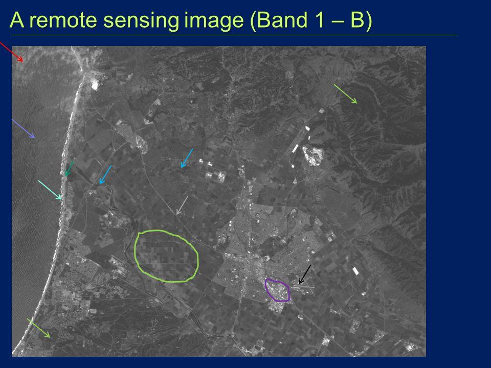 A remote sensing image (Band 1 – B)