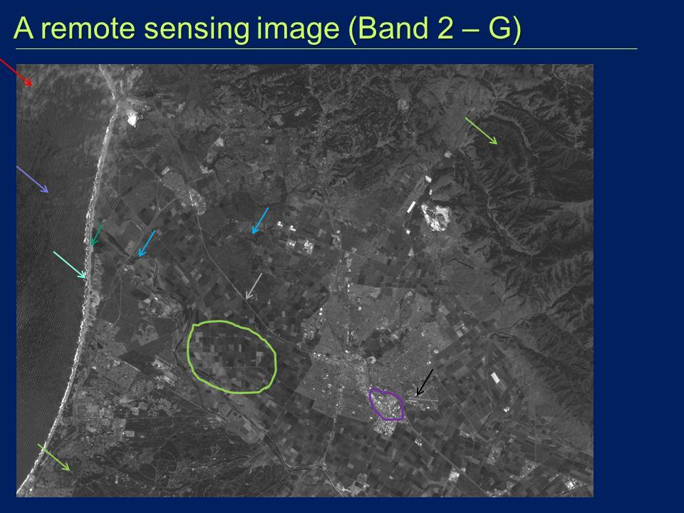 A remote sensing image (Band 2 – G)