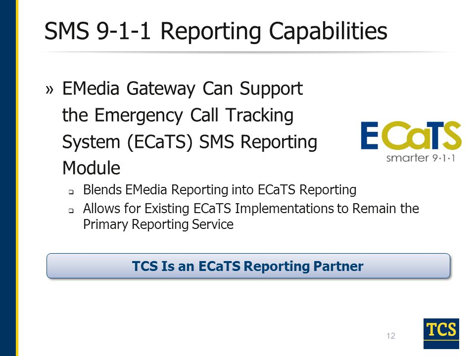 SMS 9-1-1 Reporting Capabilities
