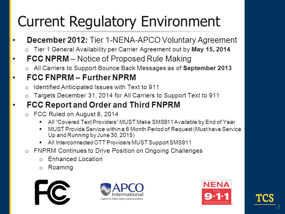 Current Regulatory Environment